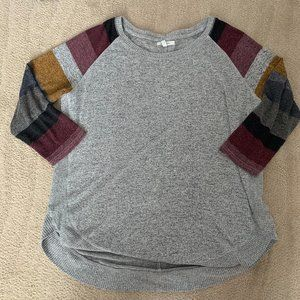 Maurices Medium Warm Tone Colorblock Sweater